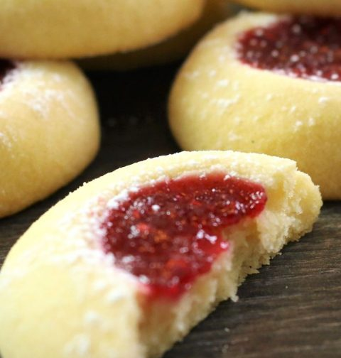 Thumprint cookies, perfect bite size treat