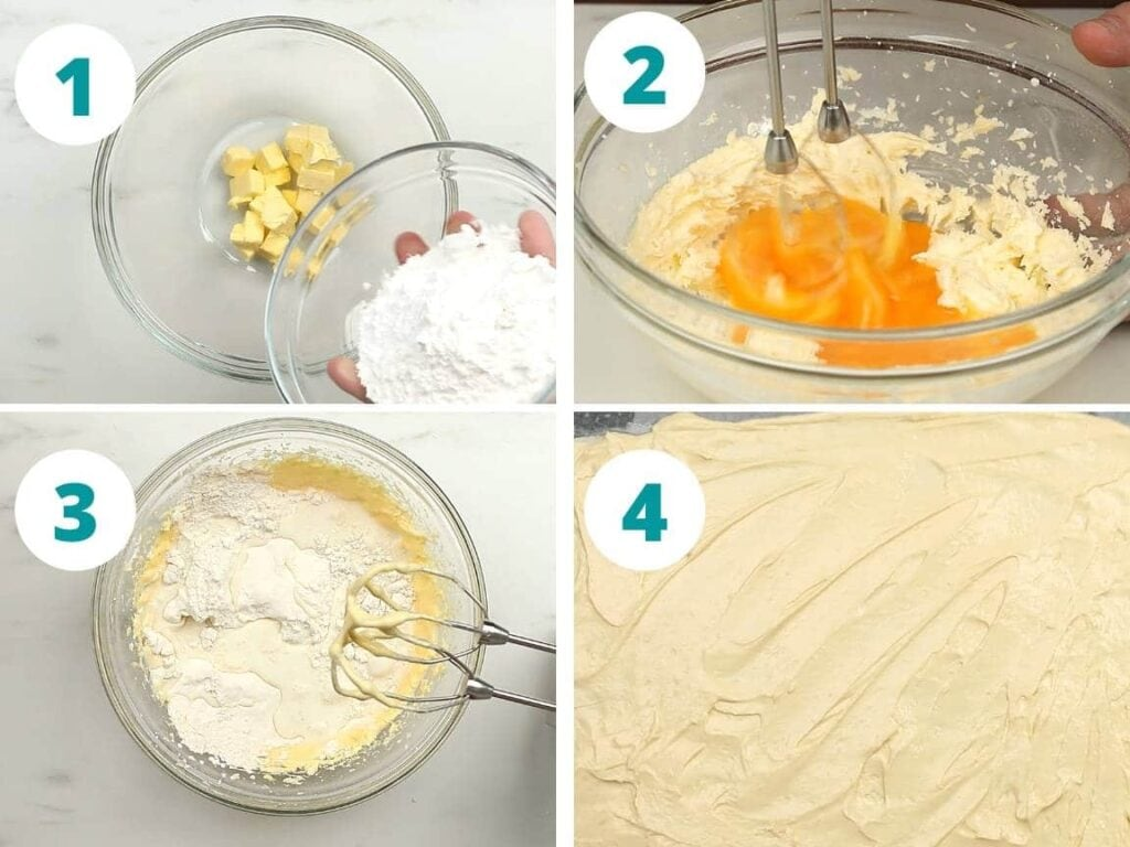 Step 1 to 4 How to make Cake With Fresh Strawberries